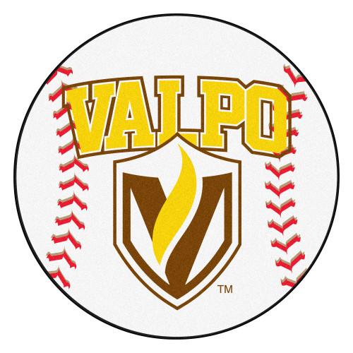 NCAA Valparaiso University Crusaders Baseball Shaped Mat Round Area Rug - IMAGE 1
