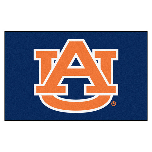 "59.5"" x 94.5"" Blue NCAA Auburn University Tigers Ulti-Mat Rectangular Area Rug - IMAGE 1"