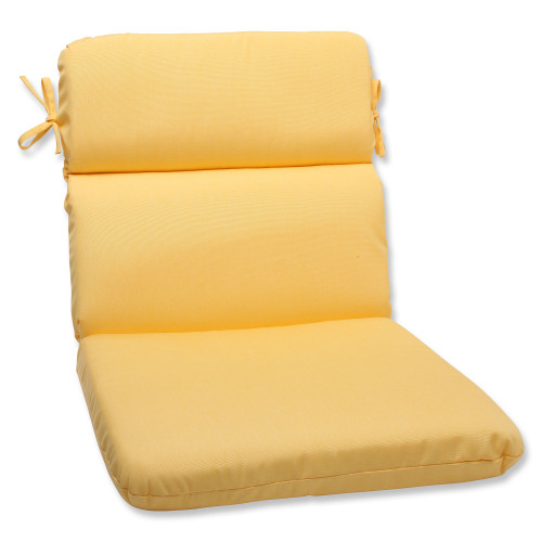 """40.5"""" Yellow Sunbrella Outdoor Patio Rounded Chair Cushion - IMAGE 1"""