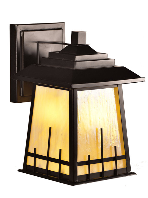 """10.5"""" Amber and Oil Rubbed Bronze Vintage Style Wall Sconce Light - IMAGE 1"""