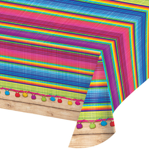 """Pack of 6 Vibrantly Colored Serape All Over Decorative Table Cover 16.25"""" - IMAGE 1"""