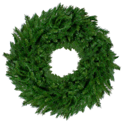 Lush Mixed Pine Artificial Christmas Wreath - 48-Inch, Unlit - IMAGE 1