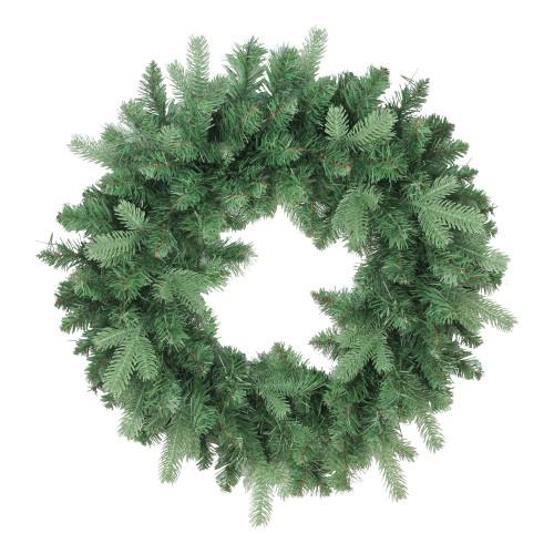 "24"" Coniferous Mixed Pine Artificial Christmas Wreath - Unlit - IMAGE 1"