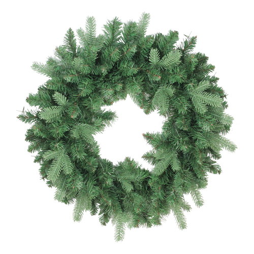 "24"" Mixed Eden Pine Artificial Christmas Wreath - Unlit - IMAGE 1"