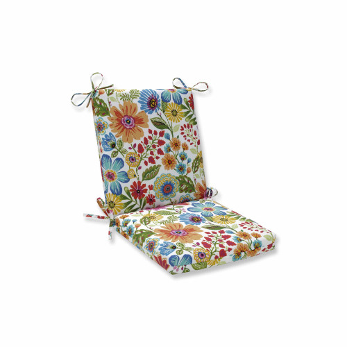 """36.5"""" Vibrantly Colored Floral Squared Corners Chair Cushion - IMAGE 1"""