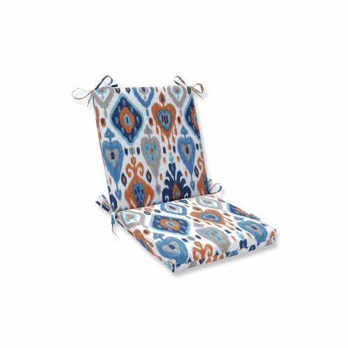 """Vibrantly Colored Ikat Pattern Outdoor Patio Chair Cushion 36.5"""" - IMAGE 1"""
