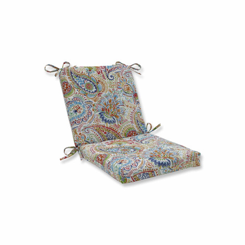 """36.5"""" Vibrantly Colored Paisley Pattern Square Corners Chair Cushion - IMAGE 1"""