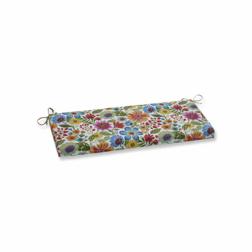 """45"""" Vibrantly Colored Floral Pattern Rectangular Bench Cushion - IMAGE 1"""