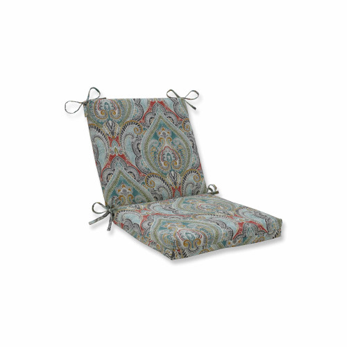 """36.5"""" Vibrantly Colored Damask Pattern Square Corners Chair Cushion - IMAGE 1"""