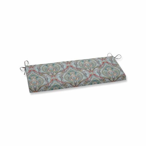 "45"" Vibrantly Colored Damask Pattern Bench Cushion - IMAGE 1"