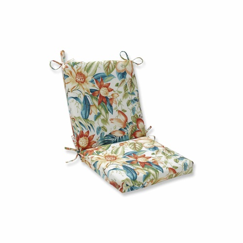 """36.5"""" Vibrantly Colored Tropical Pattern Square Corners Chair Cushion - IMAGE 1"""