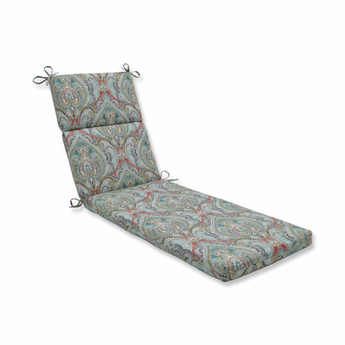 "72.5"" Subtle Colored Damask Pattern Outdoor Patio Chaise Lounge Cushion - IMAGE 1"