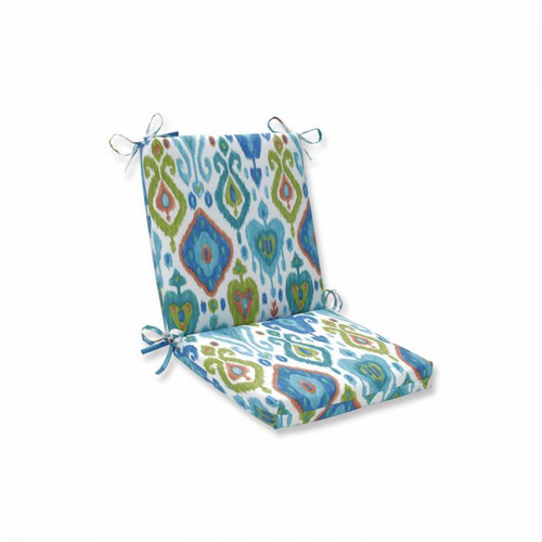 """36.5"""" Vibrantly Colored Ikat Pattern Outdoor Patio Square Corner Chaise Lounge Cushion - IMAGE 1"""