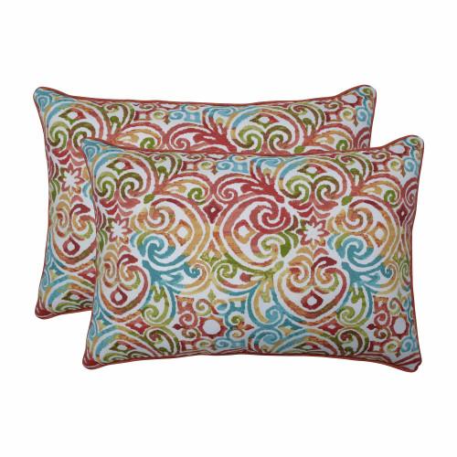 "Set of 2 Blue Over-sized Rectangular Throw Pillows 24.5"" - IMAGE 1"