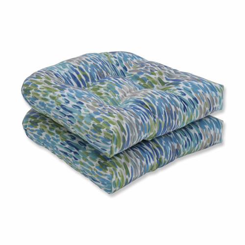 "Set of 2 Subtly Colored Contemporary Style Outdoor Patio Wicker Seat Cushion 19"" - IMAGE 1"