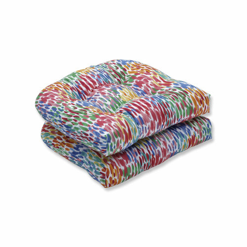 """Set of 2 Vibrantly Colored Contemporary Outdoor Patio Wicker Seat Cushions 19"""" - IMAGE 1"""