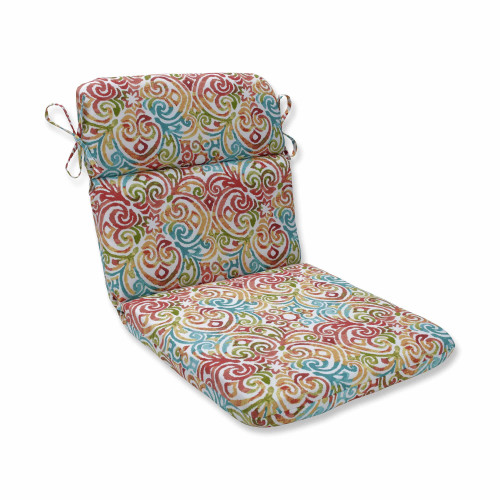 """40.5"""" Blue Rounded Corners Chair Cushion - IMAGE 1"""