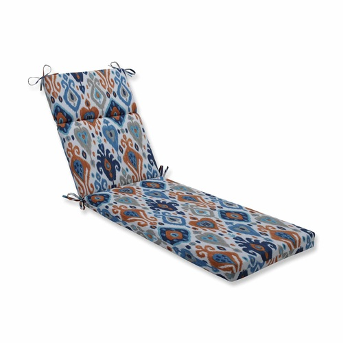 Vibrantly Colored Ikat Pattern Outdoor Patio Chaise Lounge Cushion 72.5 - IMAGE 1