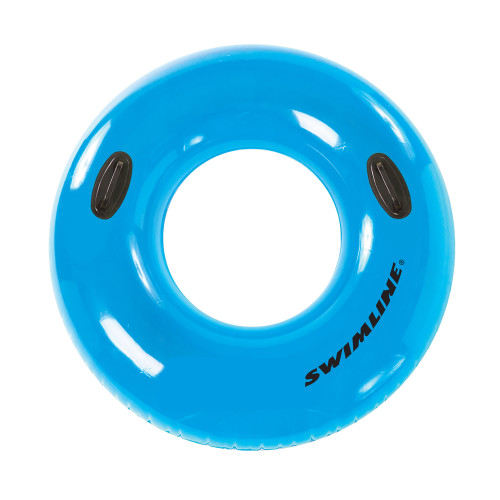 Inflatable Blue Water Sports Swimming Pool Inner Tube Ring Float, 42-Inch - IMAGE 1