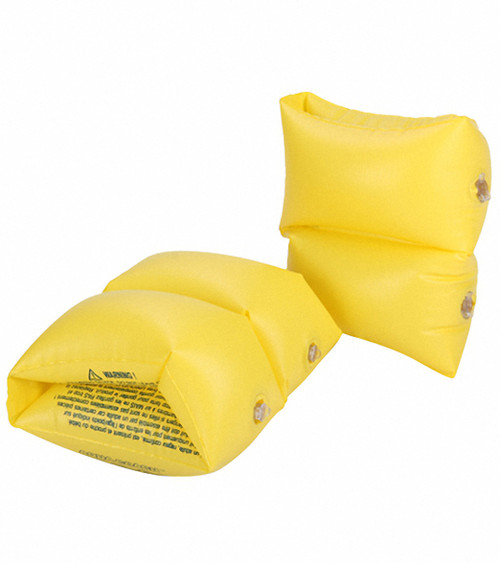 Set of 2 Inflatable Yellow Swimming Pool Arm Floats For Kids - IMAGE 1