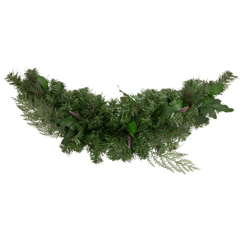 """30"""" Pine Branches with Assorted Foliage Artificial Christmas Swag - Unlit - IMAGE 1"""