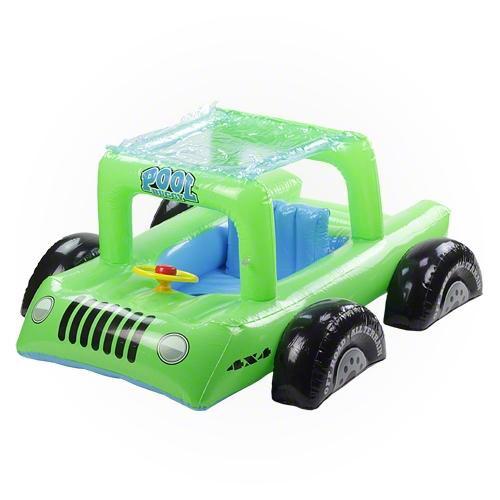 "41"" Green Swimming Pool All Terrain Vehicle Float for Children - IMAGE 1"