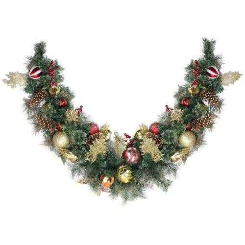 "6' x 1"" Foliage Pinecones and Berries Artificial Christmas Garland - Unlit - IMAGE 1"