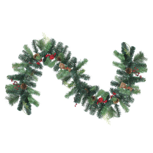 6' Foliage with Pinecone and Berry Artificial Christmas Garland - Unlit - IMAGE 1