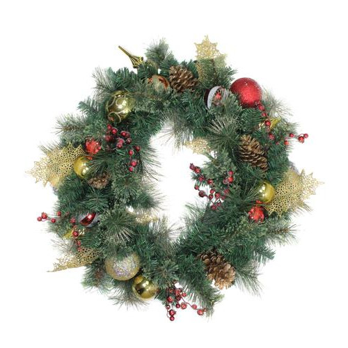 Foliage Artificial Christmas Wreath - 30-Inch, Unlit - IMAGE 1