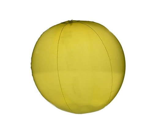 20-Inch Inflatable Transparent Yellow Beach Ball Swimming Pool Toy - IMAGE 1