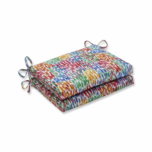 """Set of 2 Vibrantly Colored Squared Corners Seat Cushions 18.5"""" - IMAGE 1"""
