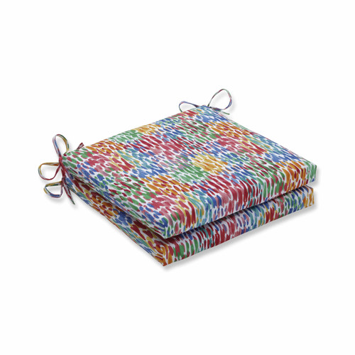 """Set of 2 Vibrantly Colored Squared Corners Seat Cushion 20"""" - IMAGE 1"""
