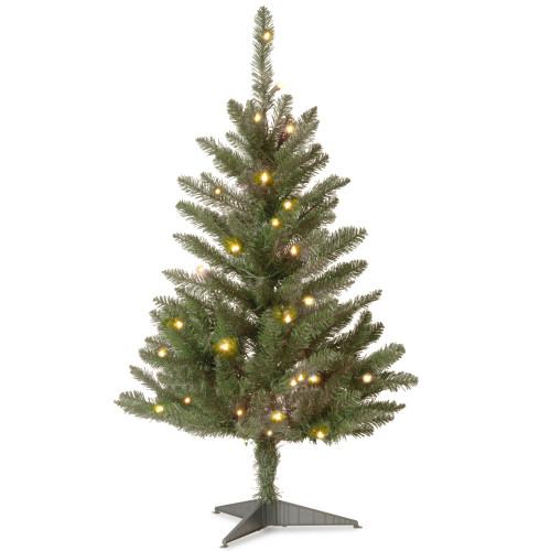 3' Pre-lit Kingswood Fir Pencil Artificial Christmas Tree – Clear Lights - IMAGE 1