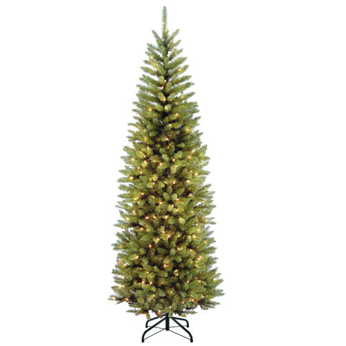 7.5' Pre-lit Kingswood Fir Pencil Artificial Christmas Tree –Clear Lights - IMAGE 1