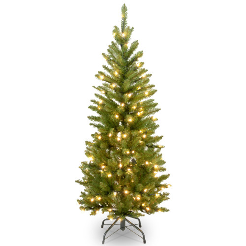 4.5' Pre-lit Kingswood Fir Pencil Artificial Christmas Tree – Clear Lights - IMAGE 1