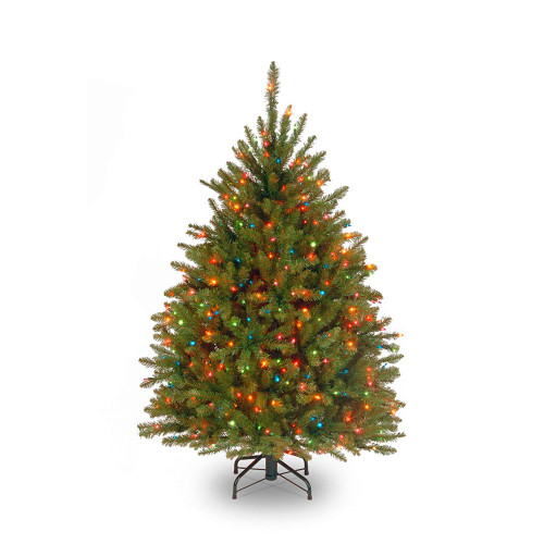 4.5' Pre-Lit Dunhill Fir Artificial Christmas Tree - Multi-Color Lights - IMAGE 1