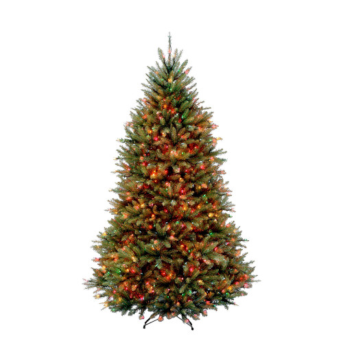 6.5' Pre-Lit Dunhill Fir Artificial Christmas Tree - Multi-Color Lights - IMAGE 1