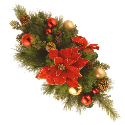 """30"""" Vibrantly Colored Christmas Decoration Centerpiece - IMAGE 1"""