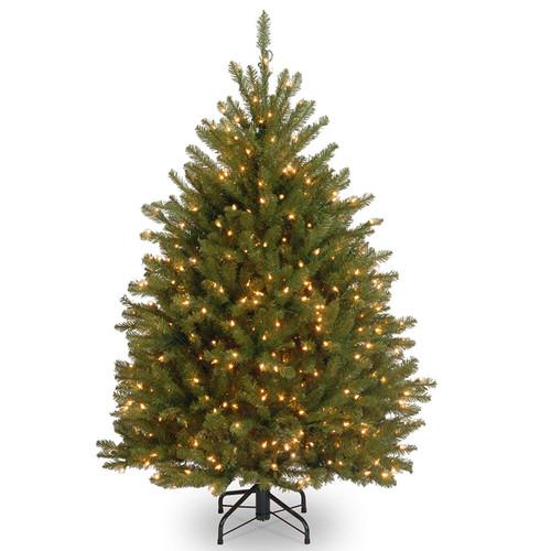 4.5' Pre-Lit Dunhill Fir Artificial Christmas Tree - Clear Lights - IMAGE 1