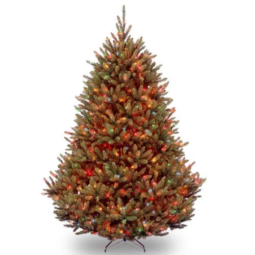 7.5' Pre-Lit Natural Fraser Full Fir Artificial Christmas Tree - Multi-Color Light - IMAGE 1