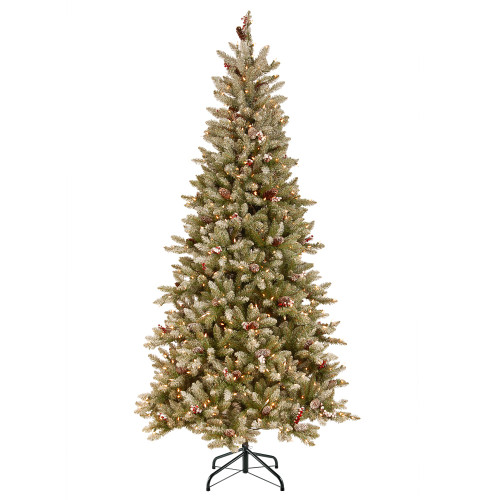 7.5 ft. Dunhill(R) Fir Slim Tree with Clear Lights - IMAGE 1