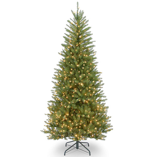7.5' Pre-lit Dunhill Fir Slim Artificial Christmas Tree - Clear Lights - IMAGE 1
