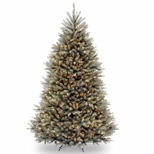 7.5 Pre-Lit Dunhill Blue Fir Hinged Artificial Christmas Tree - Clear Lights - IMAGE 1