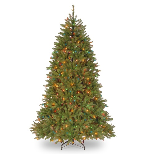 7.5' Pre-Lit Dunhill Fir Artificial Christmas Tree - Multi-Color Lights - IMAGE 1