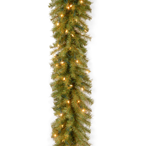 9' Pre-Lit Norwood Fir Artificial Christmas Garland - Clear Lights - IMAGE 1