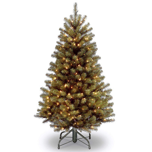 4.5' Pre-lit North Valley Spruce Artificial Christmas Tree – Clear Lights - IMAGE 1
