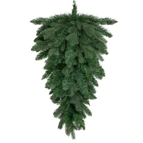 "32"" Mixed Pine Artificial Christmas Teardrop Swag - Unlit - IMAGE 1"