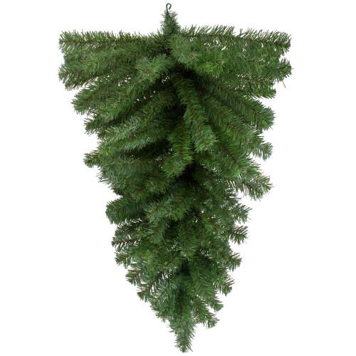 "32"" Canadian Pine Artificial Christmas Teardrop Swag - Unlit - IMAGE 1"