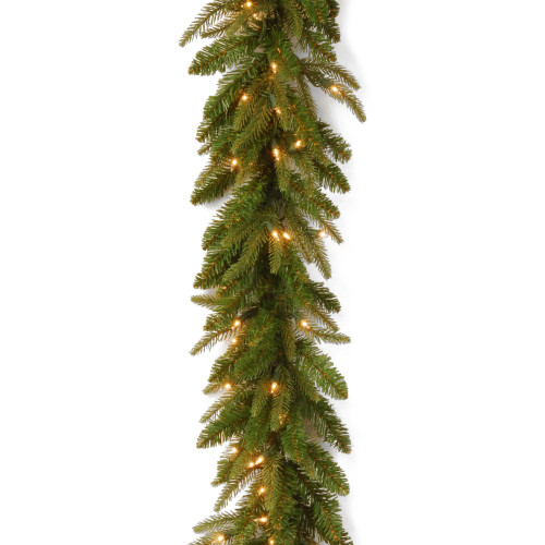 "9' x 10"" Pre-Lit Frasier Grande Artificial Christmas Garland - Clear Lights - IMAGE 1"