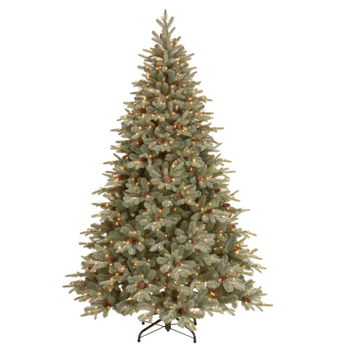 7.5' Frosted Arctic Spruce Artificial Christmas Tree - Clear Lights - IMAGE 1